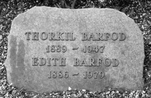 Thorkil og Edith Barford på Frederiksberg Ældre Kirkegård