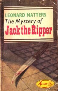 Paperback, Arrow Books 1964. Den blodige kniv - mordets instrument; her har vi et af de bærende elementer i Ripperens motivverden