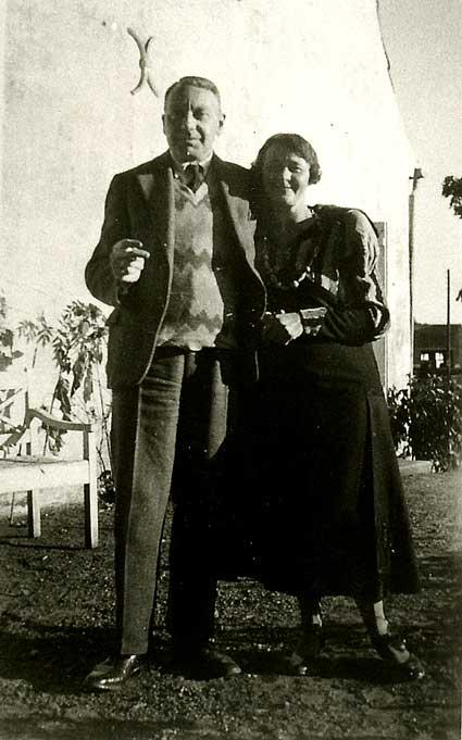 Thorkil Barfod (1889-1947) med sin kone Edith Barfod