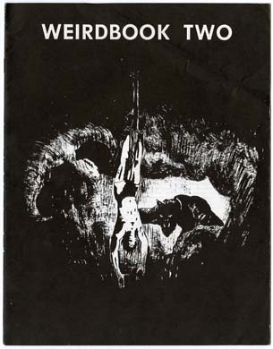 """W. Paul Ganleys Weirdbook Two, 1969, med Brennans """"City of the Seven Winds"""". Den ret fede forside er tegnet af G. M. Farley"""