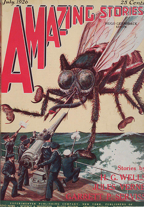Amazing Stories, juli 1926. Desperat kamp mod den gevaldige flue