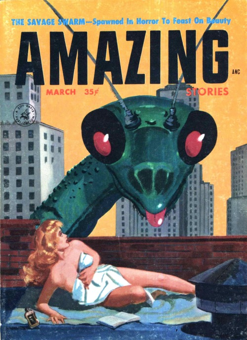 Amazing Stories, marts 1957. Hello lady!