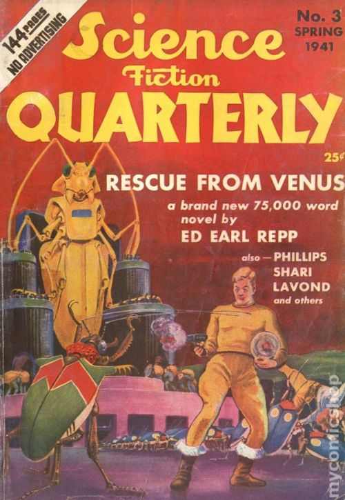 Science Fiction Quarterly, forår 1941. Lidt klassisk SF-weirdness
