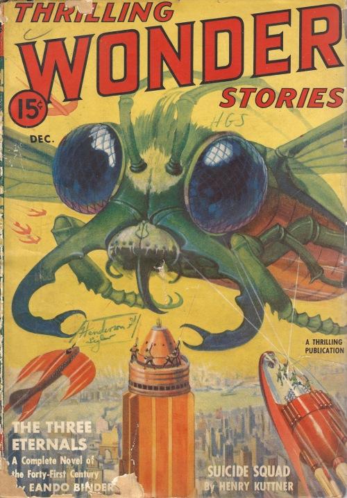Thrilling Wonder Stories. december 1939. Endnu mere kæmpeflue
