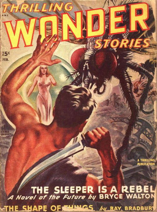 Thrilling Wonder Stories, februar 1948. Groovey kæmpeflue