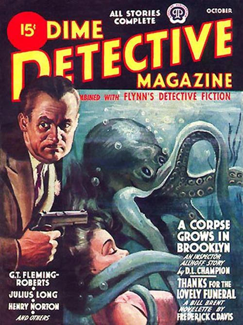 Dime Detective, oktober 1944