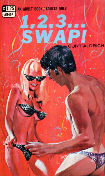 """Paperback, Greenleaf Classics 1968. """"Curt Aldrich"""" skrev en hel stribe """"Swap""""-bøger"""