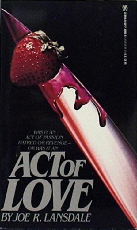 Paperback, Zebra Publishing 1981. Blod, jordbær og kniv... symbol-overload