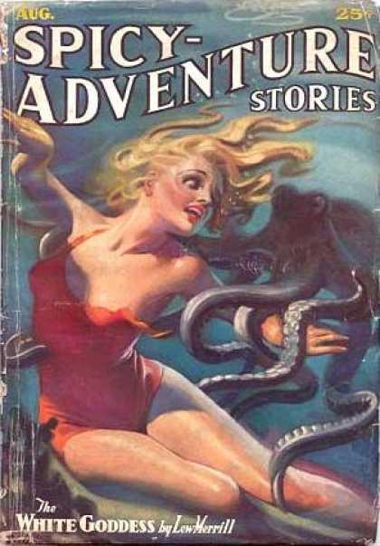Spicy Adventure Stories, august 1936