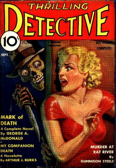 Thrilling Detective, september 1935. Endnu et dejligt cover. Se lige de øjne!