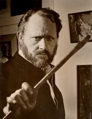 Irving Seidmont Docktor (10. juli 1918 - 14. februar 2008). Herligt selvhøjtideligt billede af Doctor i rollen som den store kunstner