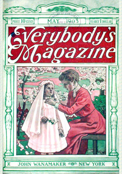 "Everybody's Magazine, maj 1903. Her blev ""The Lost Ghost trykt"""