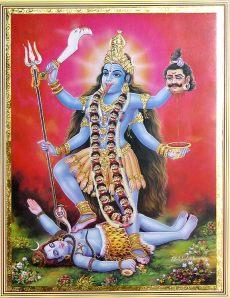Og endelige Kali selv i hele hendes indiske herlighed