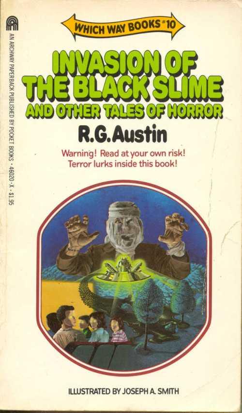 """Paperback, Archways Paperbacks 1983. Her kan du selv kæmpe mod den fjendtlige slim i en af 80'ernes populære """"game book""""-serier."""