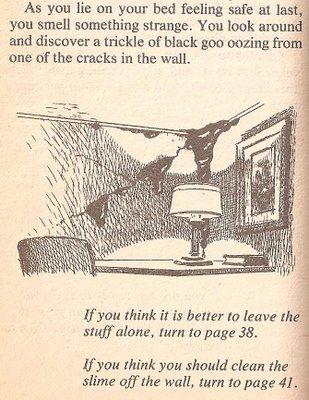 """Læs her hvordan slimen sniger sig ind på dig i """"Ivasion of The Black Slime"""", Paperback, Archways Paperbacks 1983."""