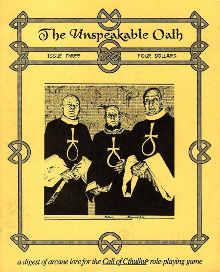 The Unspeakable Oath nr. 3 1991. En fantastisk forside