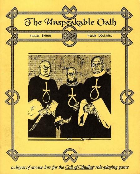 The Unspeakable Oath nr. 3 1991. En fantastisk forside