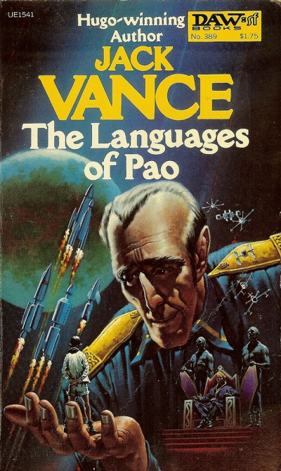 Paperback, Daw Books 1980. Forsiden er malet af H. R. Van Dongen