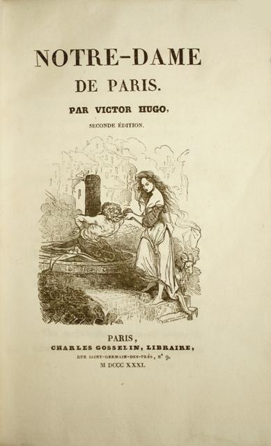 Hardcover, Charles Gosselin 1831. 1. udg. af Hugos klassiker