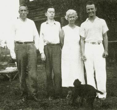 H. P. Lovecraft (1890-1937) på besøg hos Familien Barlow i Florida o. 1935