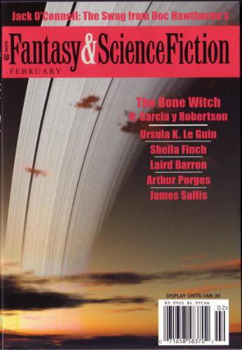 """Magazine of Fantasy and Science Fiction, februar 2003. Her blev """"Old Virginia"""" trykt første gang"""