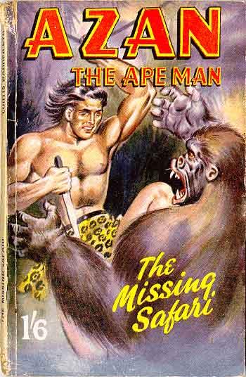 Paperback, Azan the Ape Man 1950