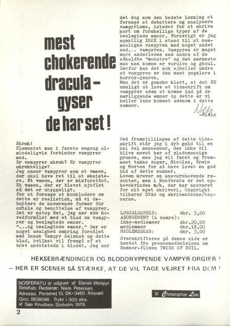 Nosferatu nr. 1 juni 1979. Leder, s. 2