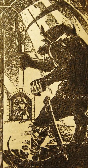 En illustration fra bogen. Tegnet af E. Robbins 1969