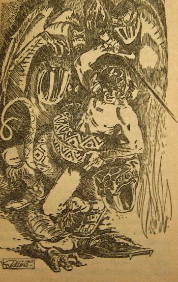 Endnu en af de herligt pulpede illustationer fra bogen. Denne er ligeledes tegnet af E. Robbins 1969