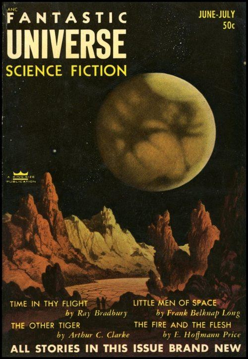 """Fantastic Universe, juni-juli 1953, hvor novellen """"The Maugham Obsession"""" blev bragt første gang"""