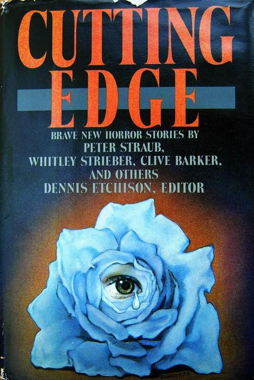 Hardcover, Doubleday 1986. Bogens 1. udg. Den blå rose, inspireret af Straubs novelle, er malet af Linda Fennimore