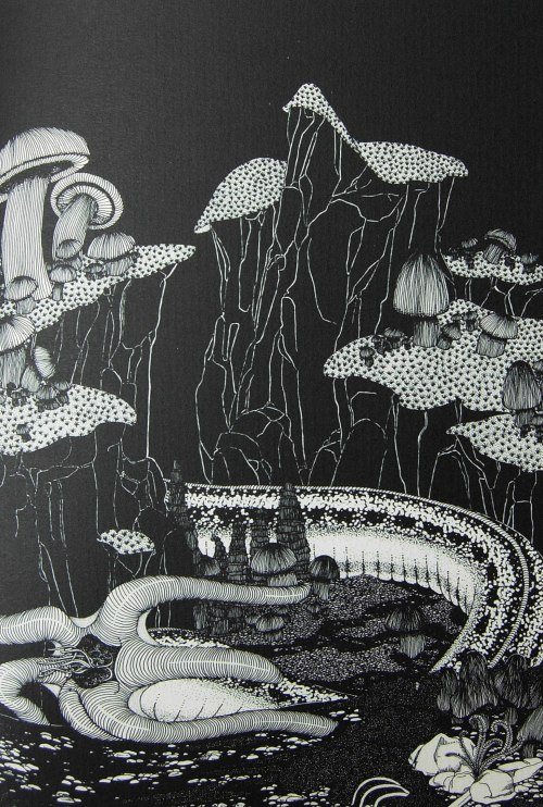Endnu en af bogens mesterlige illustrationer af Robert Arrington