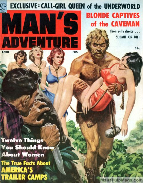 MAN'S ADVENTURE, April 1959