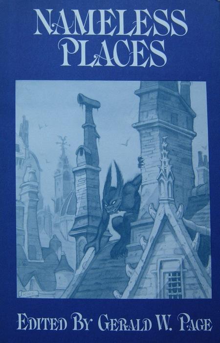 Hardcover, Arkham House 1975. Den ganske fine forside er tegnet af Tim Kirk