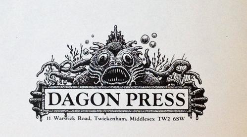 Lilleputforlaget Dagon Press' logo - naturligvis tegnet af Dave Carson