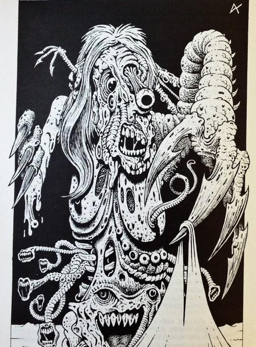 Endnu en af kortromanens illustrationer. Også denne er skabt af hr. Dave Carson