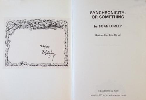 Mit eksemplar af Synchronicity, or something