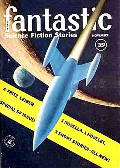"""Fantastic, november 1959. Bladet hvor """"Lean times in Lankhmar"""" blev trykt for første gang"""
