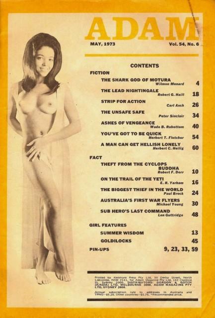Adam, maj 1973. Pikant indholdsfortegnelse