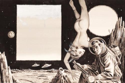Bill Edwards, indvendig illustration, Adam, maj 1958