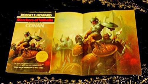 Berkley lagde fraveplakater i deres Conan-udgivelser. Plakaten er desværre forsbundet fra min udgave af bogen - har dog fundet dette, lidt sølle, billede, hvor man kan se plakaten