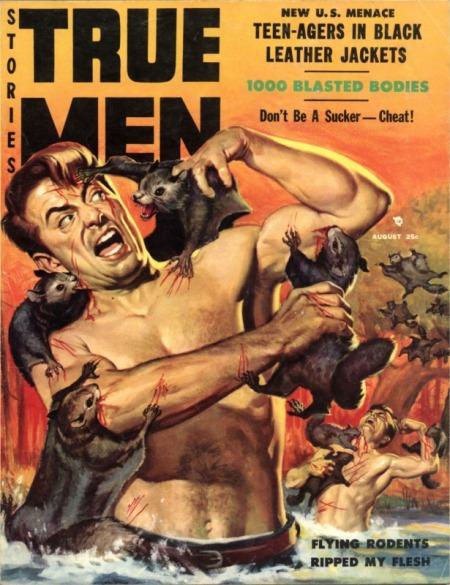 TRUE MEN Stories, august 1957