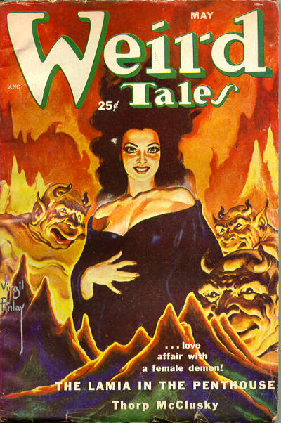 "Weird Tales, maj 1952. Nummeret med ""The Night Road"""
