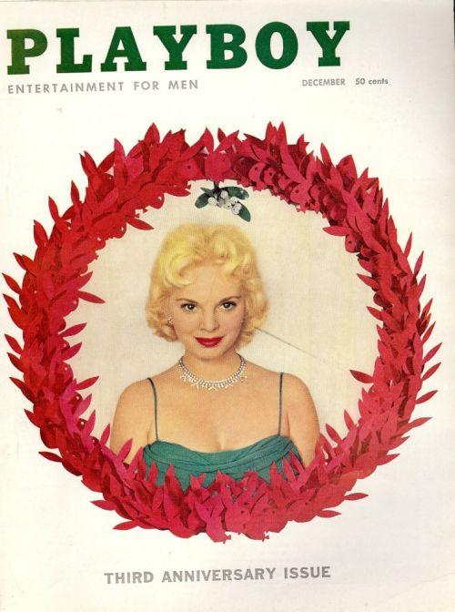 """Playboy, december 1956. Bladet hvor Charles Beaumonts fremragende novelle """"The Dark Music"""" blev trykt"""