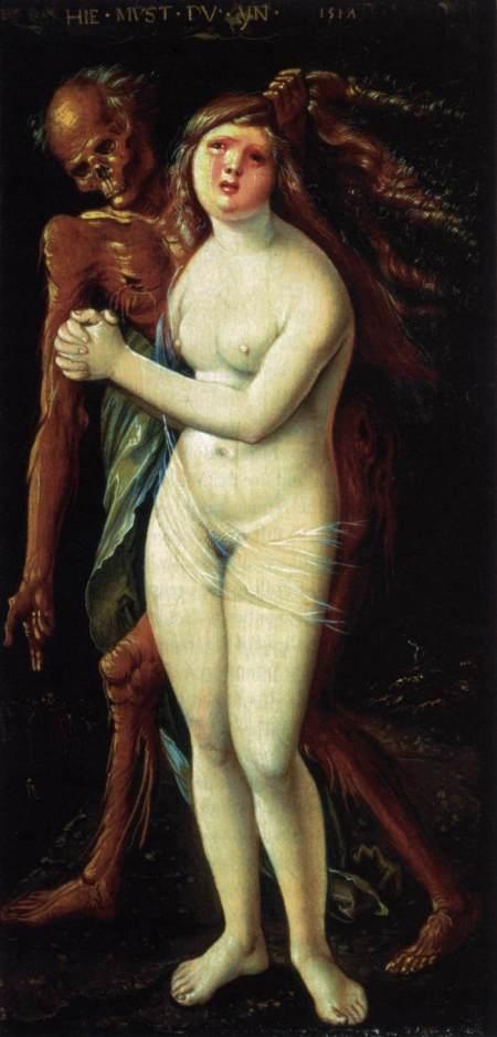 Et fornemt eksempel på motivet fra den nordeuropæiske renæssancekunst. Hans Baldung Grien, 1517