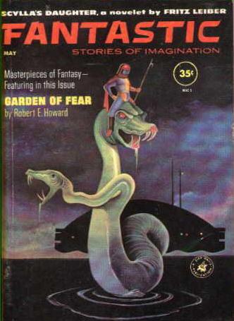 """Fantastic, maj 1961. Nummeret hvor første del af The Swords of Lankhmar blev bragt med titlen """"Sylla's Daughter"""""""