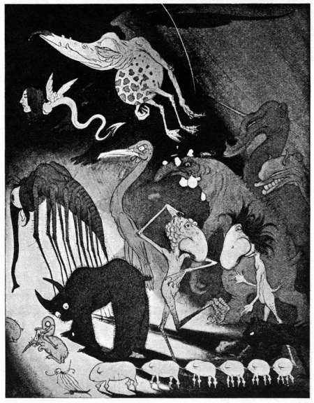 Gods Of Pegana, Lord Dunsany. Tegnet af Willy Grasser 1923