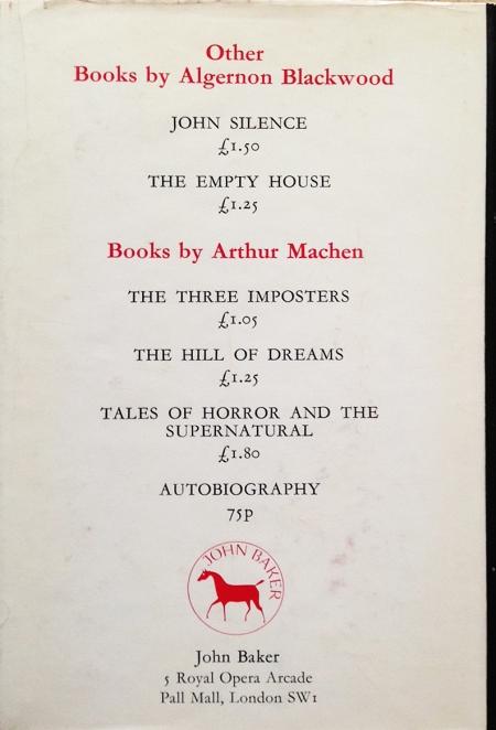 Hardcover, John Baker 1970