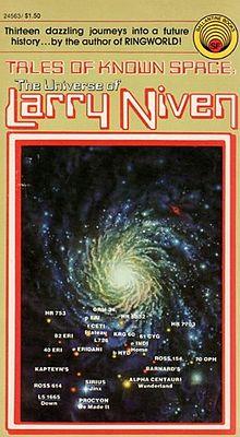 Tales Of Known Space, Ballantine, 1975. Forsiden er skabt af Rich Sternbach
