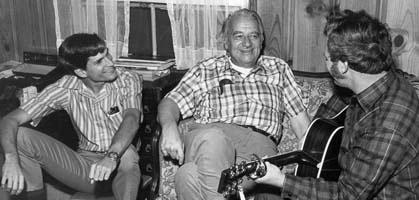 Fra venstre: David Drake, Manly Wade Wellman og Dave Shelton i 1971